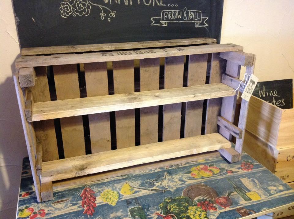 veg crate shelves